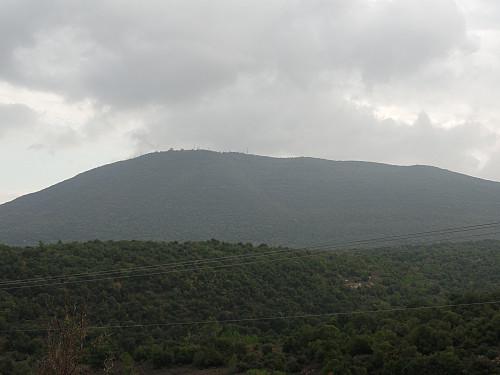 Mount Meron (Har Meron) sett fra nordøst