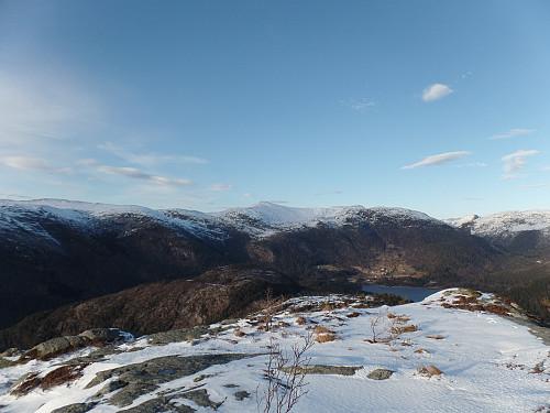 Utsikt nordøst; Skarpefjellnakken senter