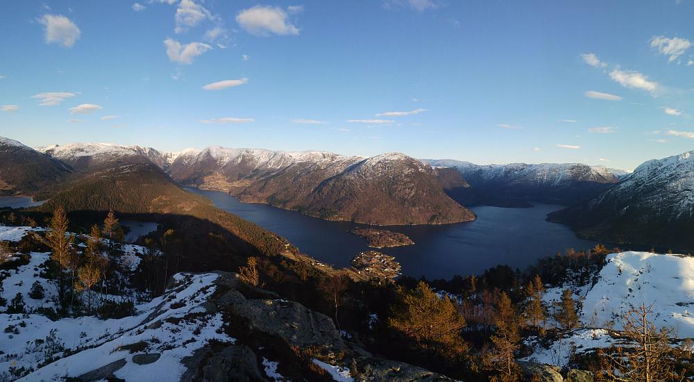 Panorama utsiktspunkt Heinakken SØ. Nonklettfjellet senter