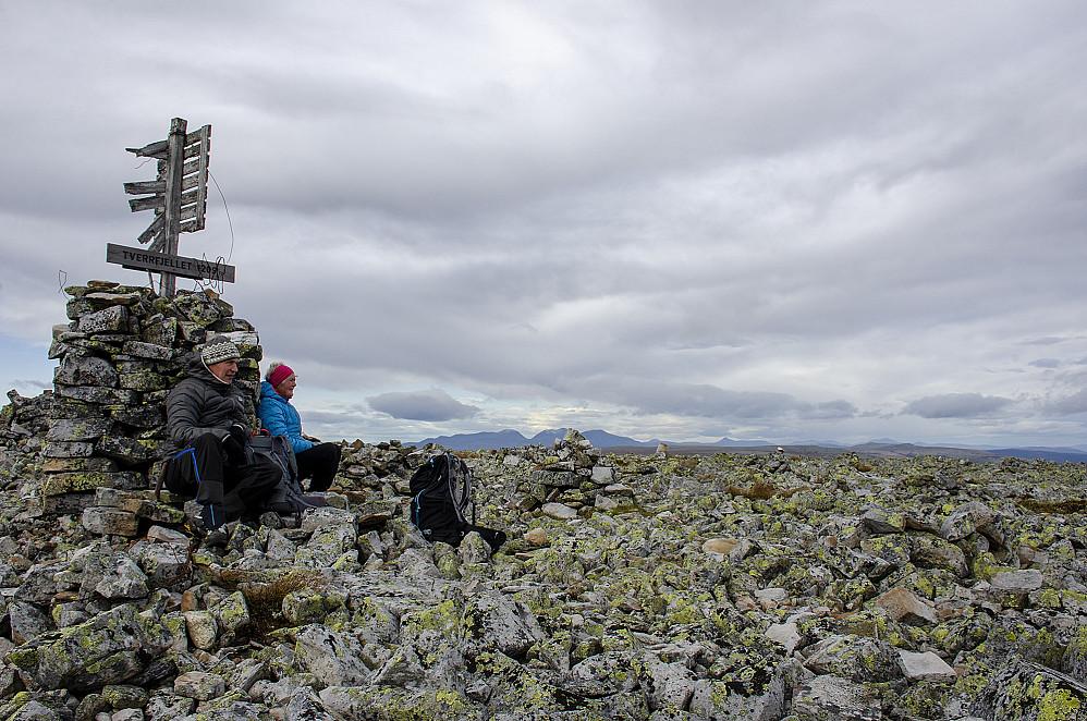 Tverrfjellet toppen 1208 moh.
