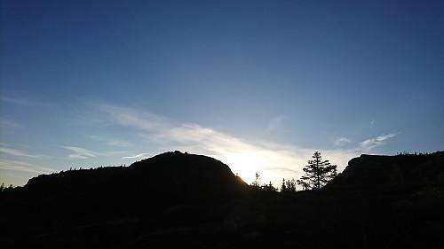 Styggemannshytta i sikte - fast bestemt på å rekke solnedgang