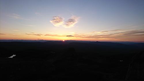 Nydelig solnedgang sett fra Styggemann