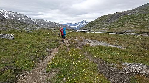 Her på vei fra Skogadalen og inn i Mjølkedalen