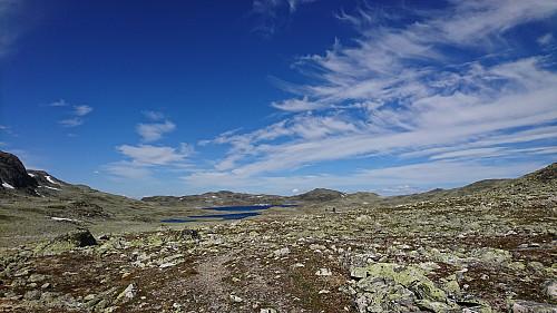 Veldig steinete terreng på turen til Bjordalsbu
