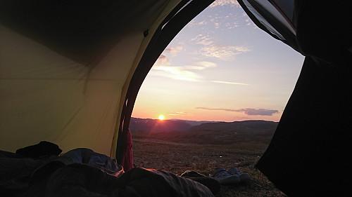 Supert å bo i telt - ved Bolhovd