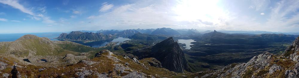 Panorama - i hovedsak mot nord