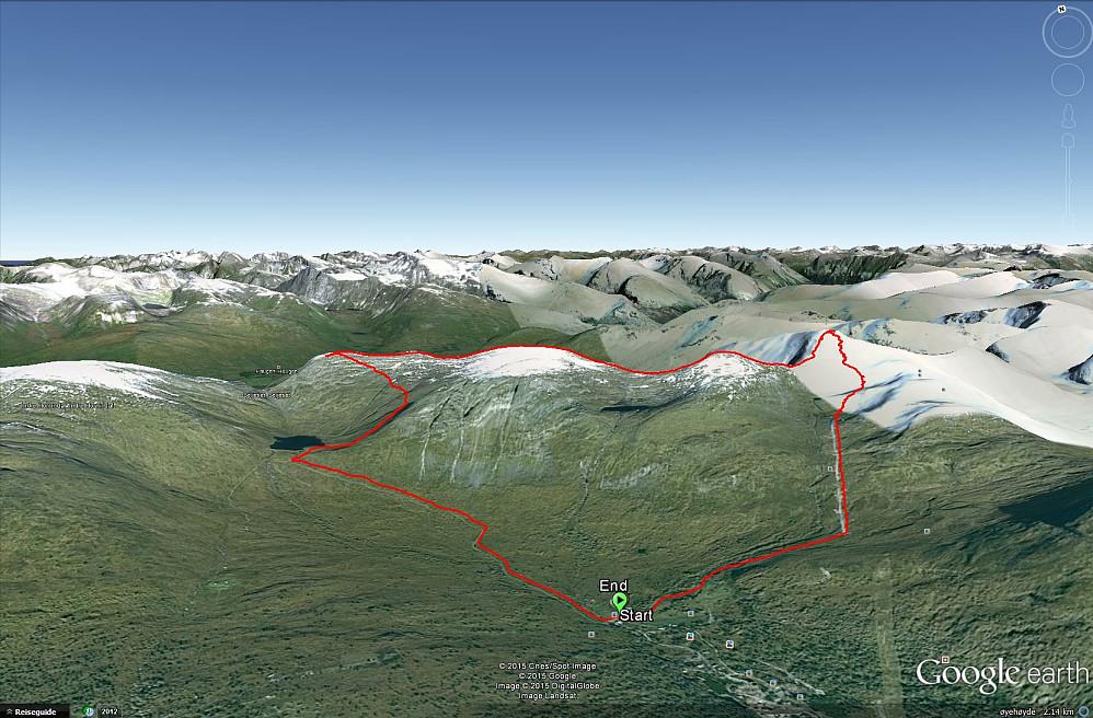 Ruta sett i Google Earth