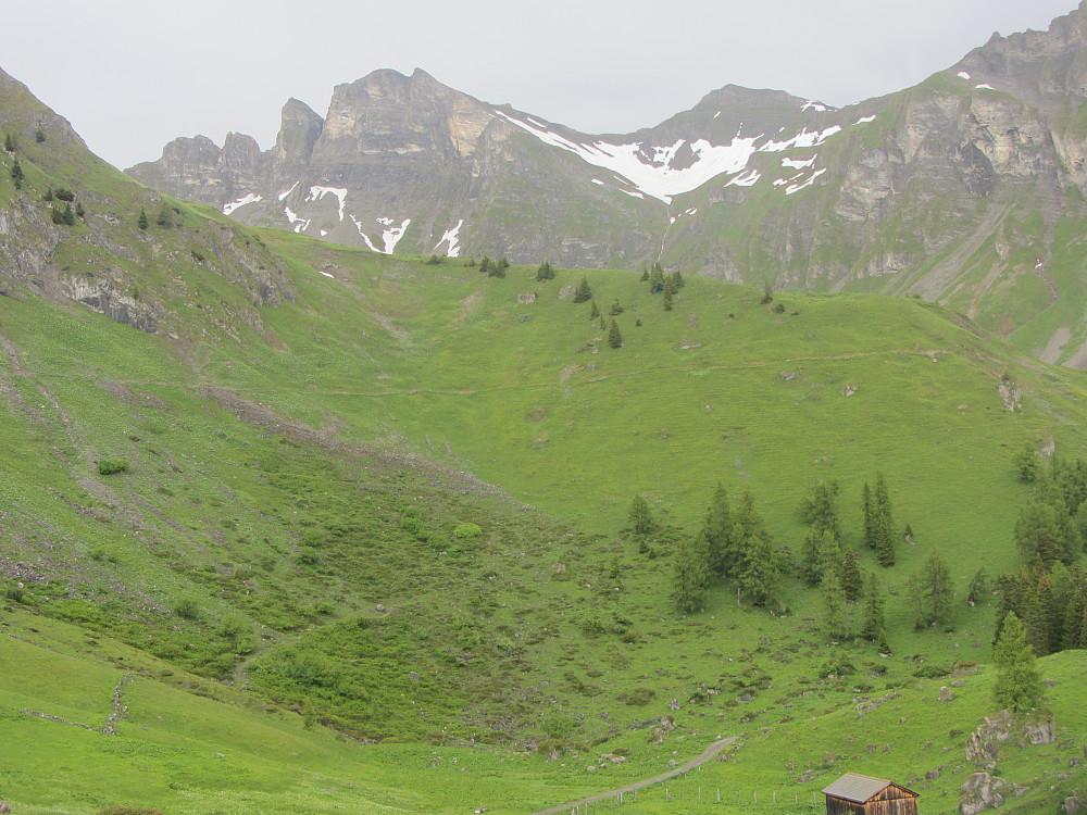 Toppen litt til venstre i bildet,  sett fra Kamm