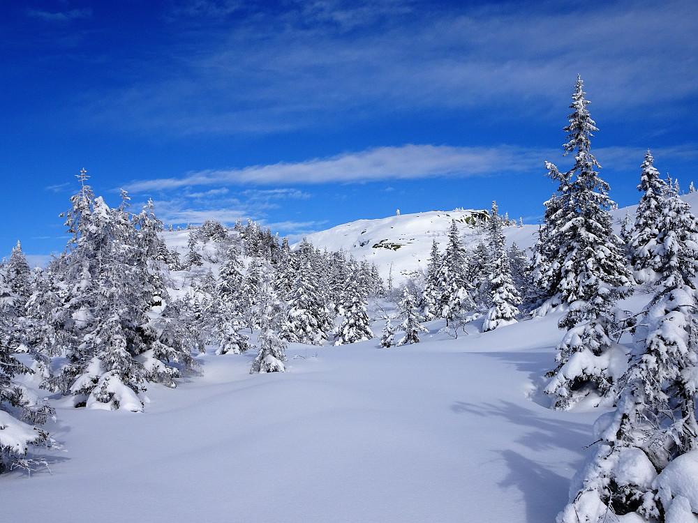 Jomfruelig sne oppover mot Styggemann