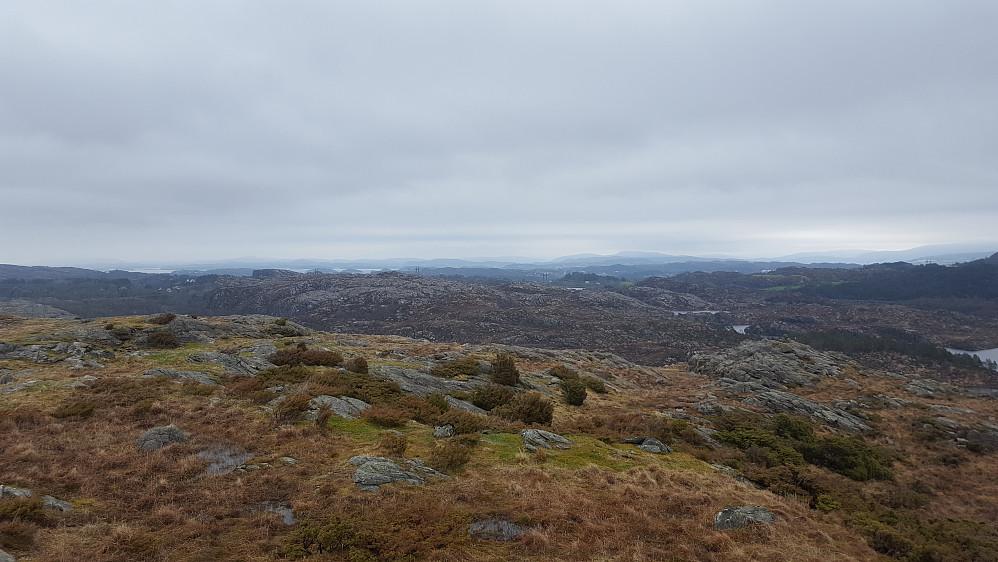Fra Gardafjellet mot nordøst.