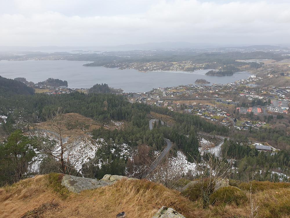 Fra Ramberget mot Fanafjorden.