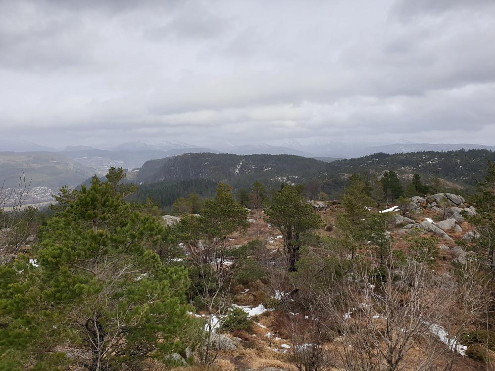 Fra Lyseskarfjellet (Linken) mot nordøst.