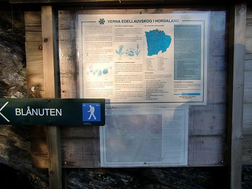 Info tavle ved tømmerplassen