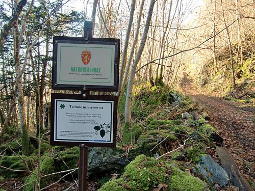 Turen gikk gjennom Tveitane Naturreservat