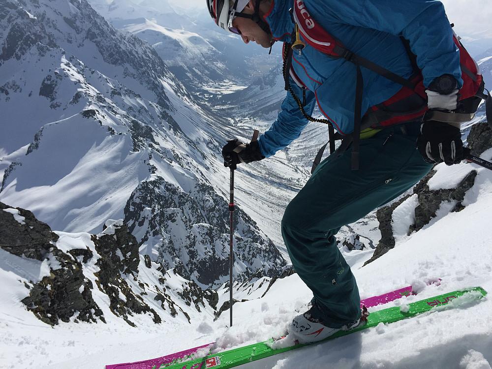 Ola kjørte ski helt fra toppen