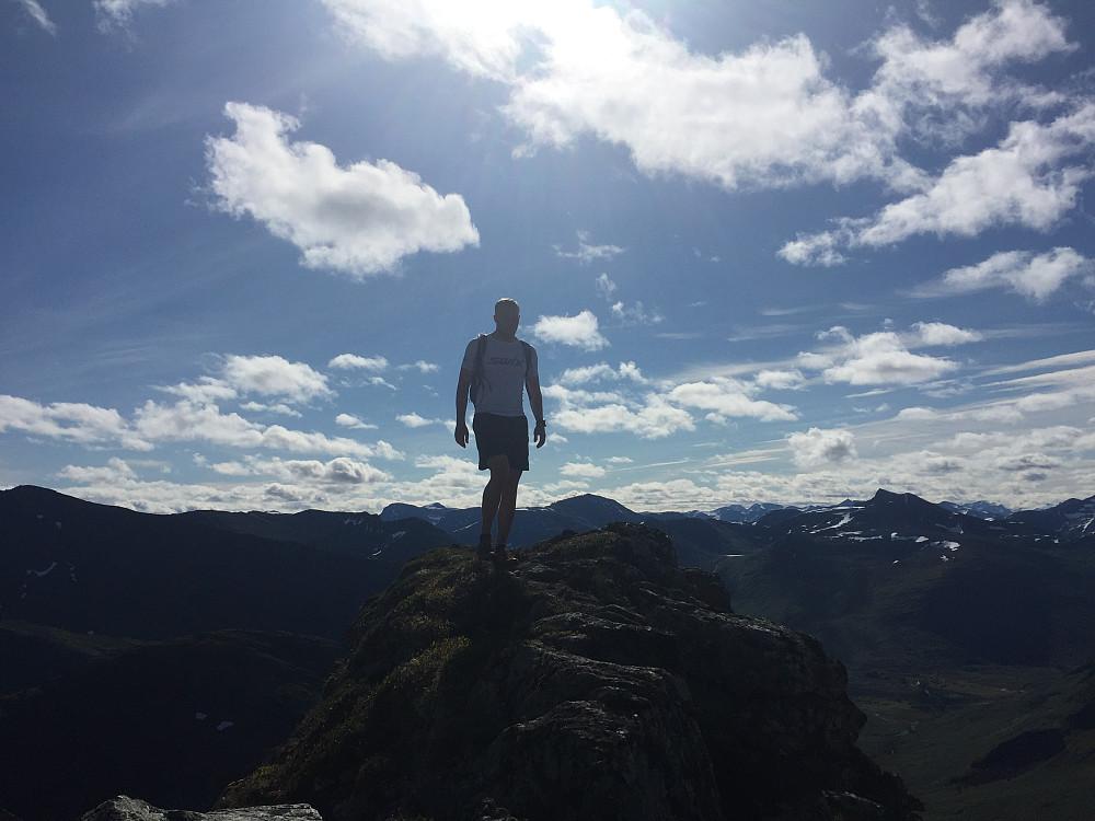 Henrik på veg mot Litleskorka