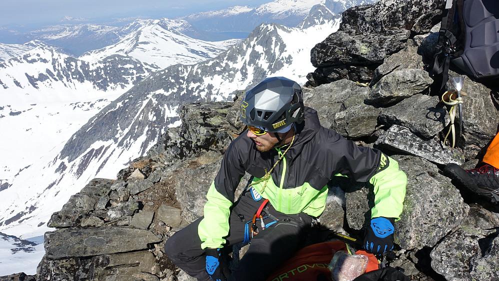 Foto: Arnt Owe.  Jeg på toppen