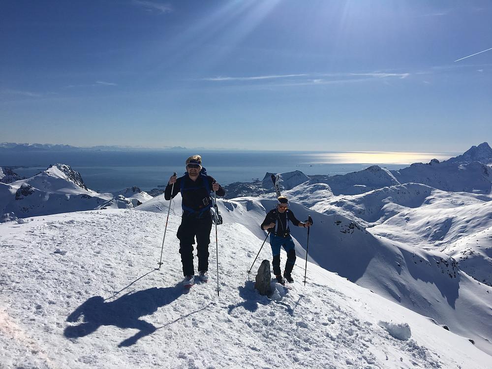 Ole Kristian og Svein Kåre på toppen