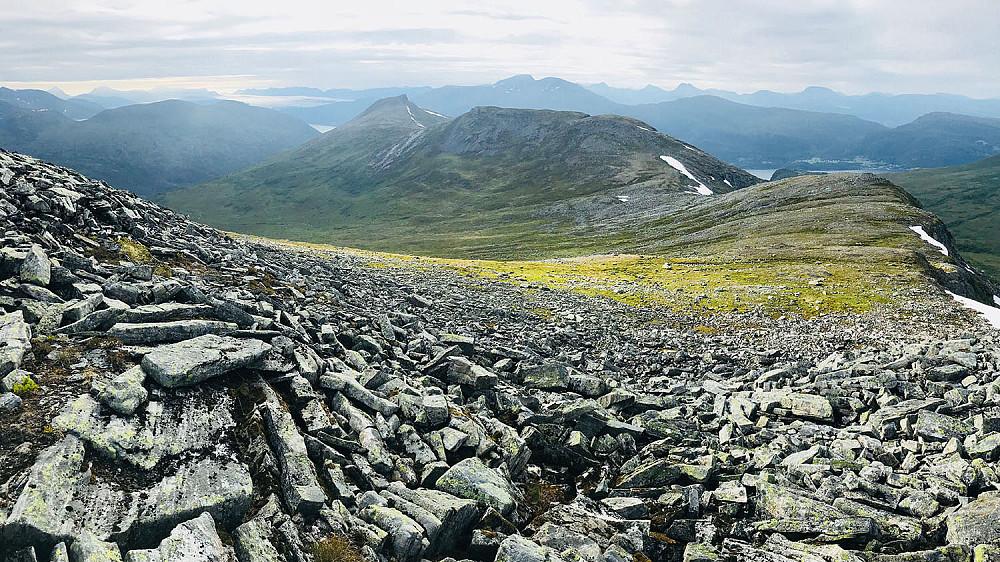 Dalefjellet/Rjuptinden/Klauva sett fra Blåfjellet
