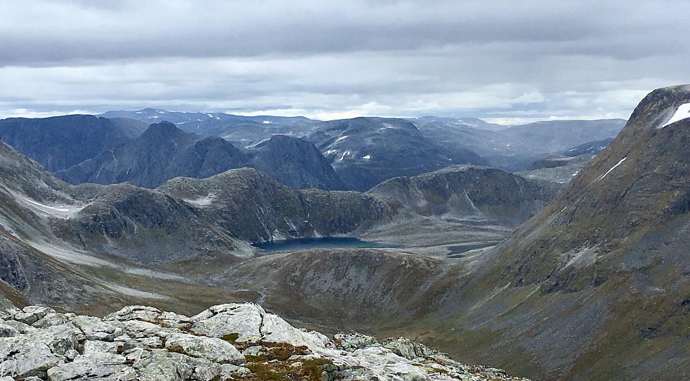 Utsikt fra høyeste punkt på Goksøyra og ned i Ljøsabotnen.
