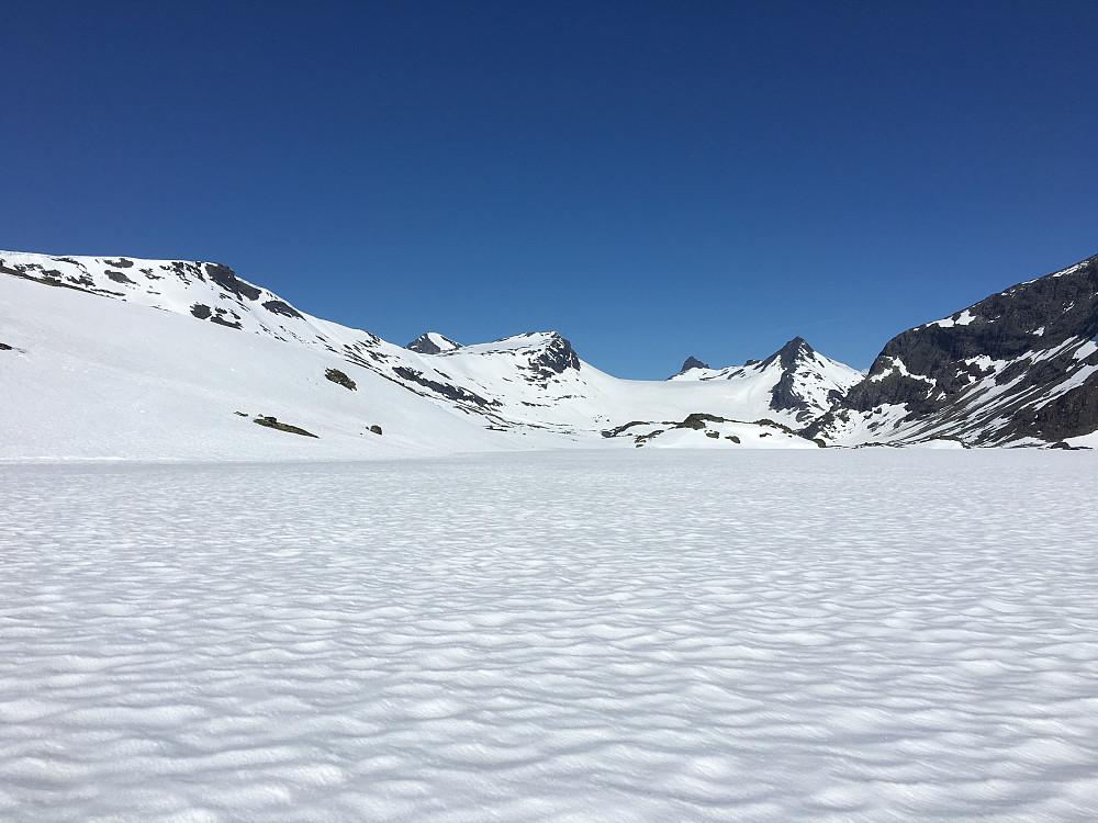 Mjølkedalsbreen fra Mjølkedalsvatnet
