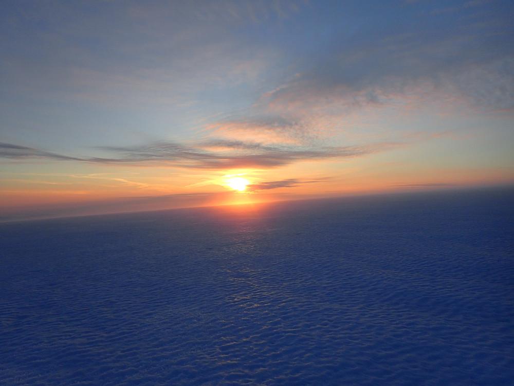 RÅ solnedgang fra breplattået !