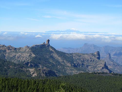 Utsikt mot Teide i det fjerne