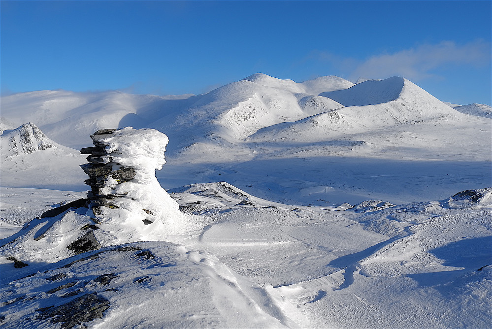 Bråkdalsbelgen og Ljosåbelgen sett fra Skorutberget