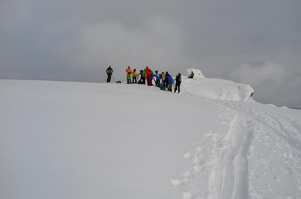 En gruppe italienere hadde okkupert toppen