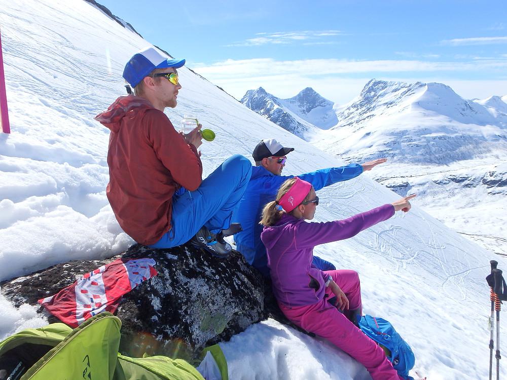 Lunchpause på ca. 1100 m