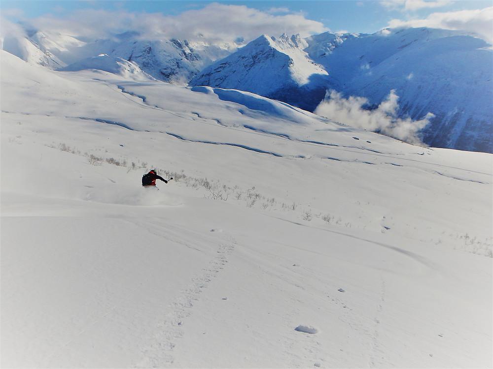 Det var dagen i dag å sette førstesporet ned fra fjellet.