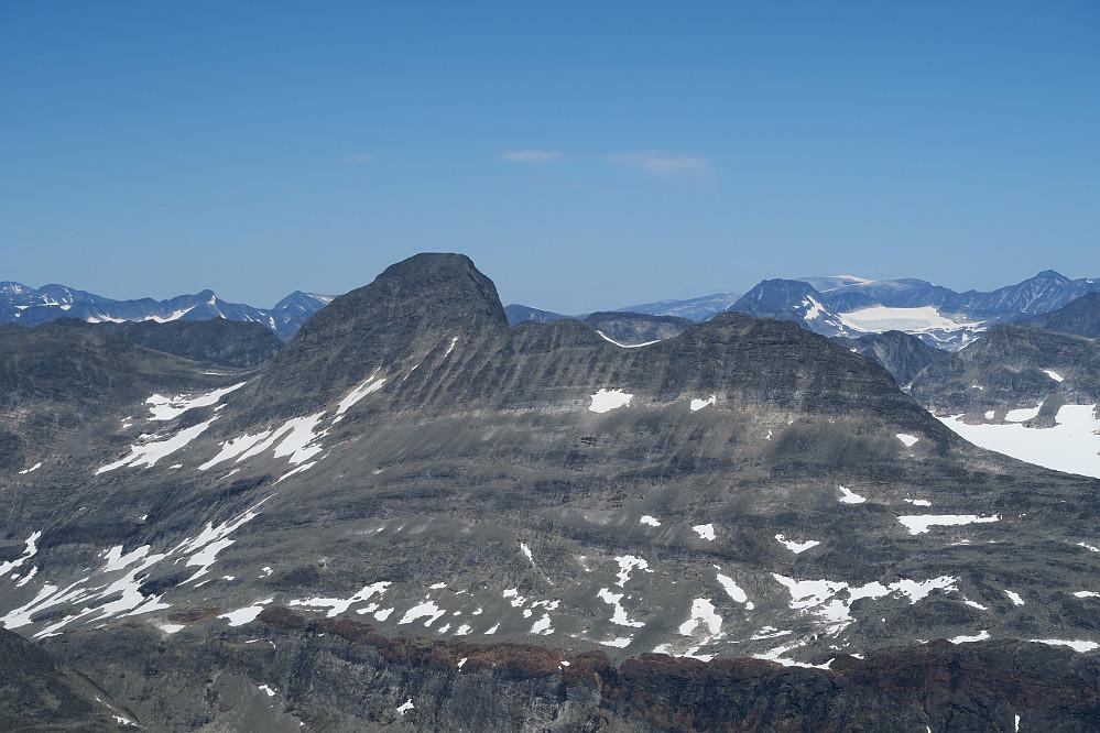 Utsikten fra toppen mot gårsdagens prosjekt