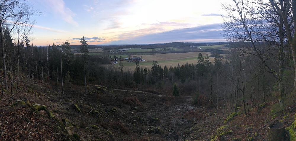 Utsikten nedover direkteveien