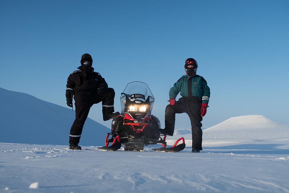 Dagens turfølge: Undertegnede, scooteren og Vemund