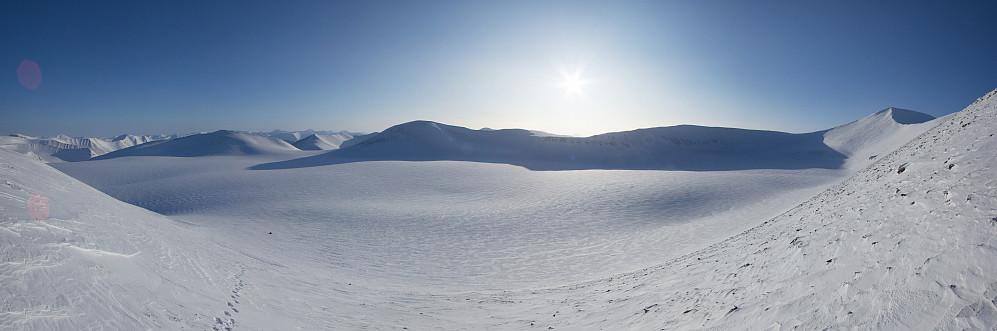 Panorama over Sjaktbreen