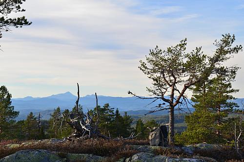 Gaustatoppen sett fra søndre topp rett nedenfor selve toppunktet