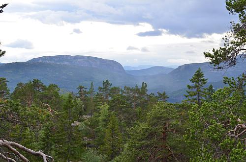 Utsikt fra Gautilnuten - mot Brokefjell