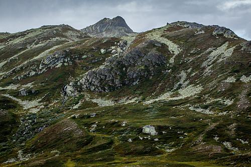 Puklene til Vindeggen øst ses godt fra Systebulihov-ryggen