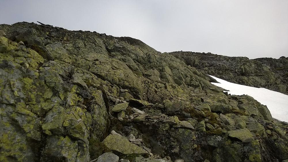 Lett klyving opp sørflanken på Skarbottsnosi