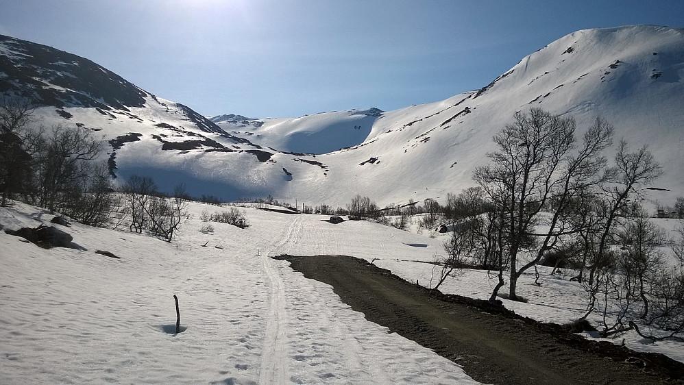 Oppover Fagredalen var det skiføre.