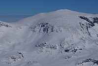 Toppen sett fra vest (Hinnåtefjell.)
