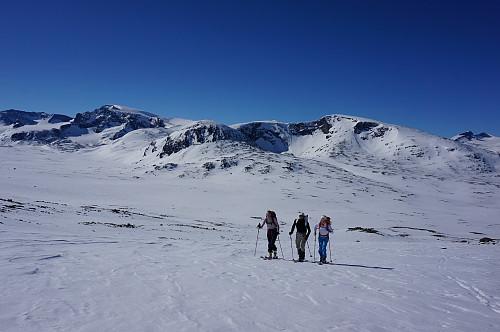 På vei opp mot Glittertinden fra Visdalen. Foto: Gjermund Nordskar