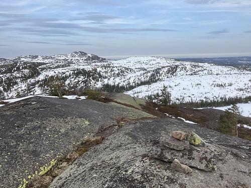 Dagens siste topp, Breidstulfjellet. Skrimfjella leverte godt i dag :)