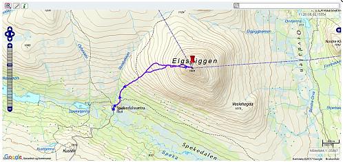 Elgspiggen - 6,7 km - 3t 33min