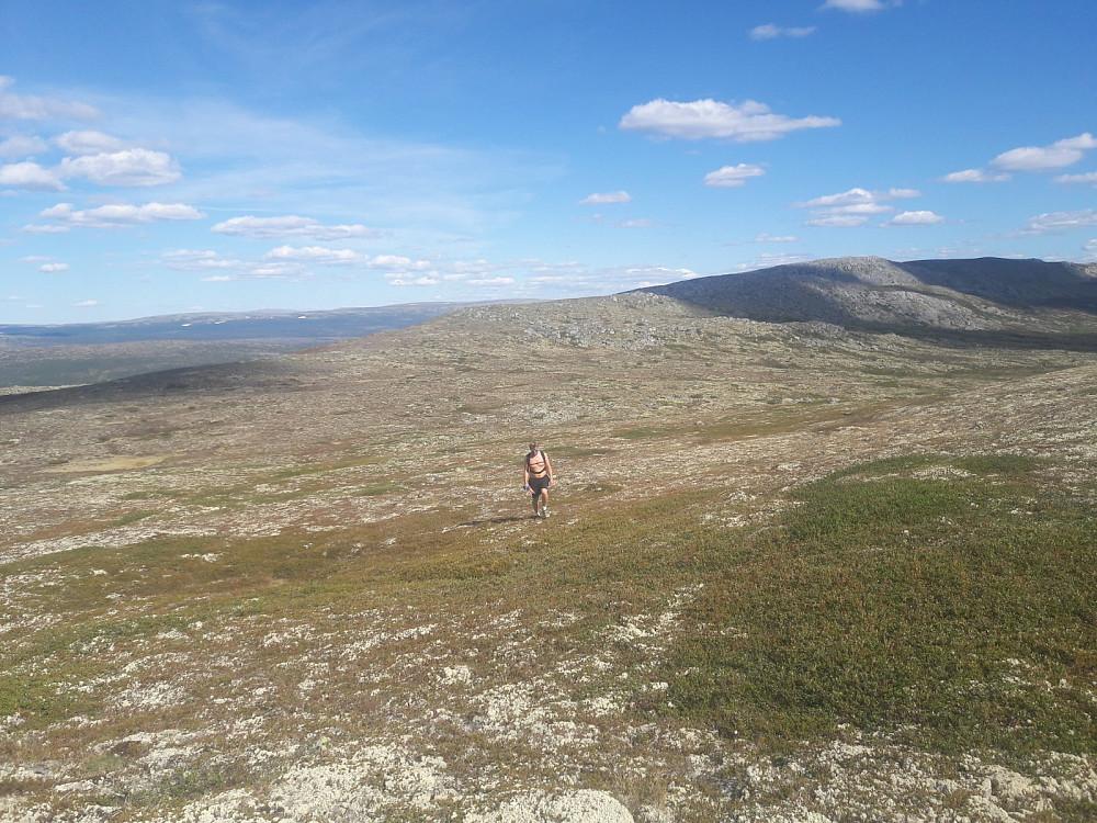 På vei opp til Storhøgda, deler av Borveggen i bakgrunnen