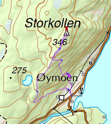 Turen vi gikk - 2,5 kilometer, 1 t 31 min og 184 høydemeter