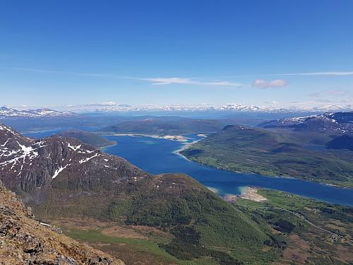 Utsikt fra toppen av Kongsviktinden