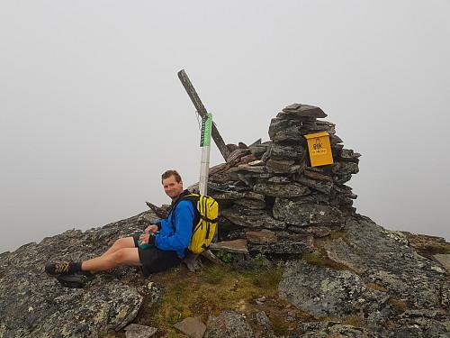Hans Thorvald på toppen av Vardfjellet
