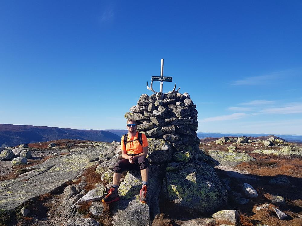 Hans Thorvald på toppen av Gyranfisen