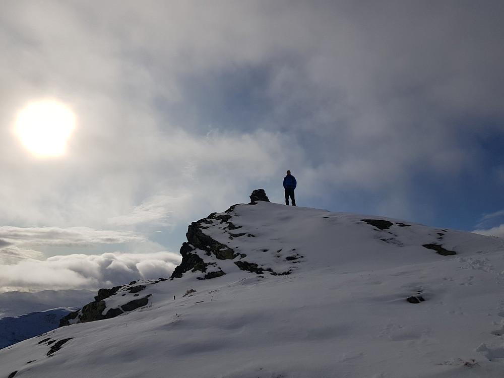 Hans Thorvald på toppen av Kongsliknuppen